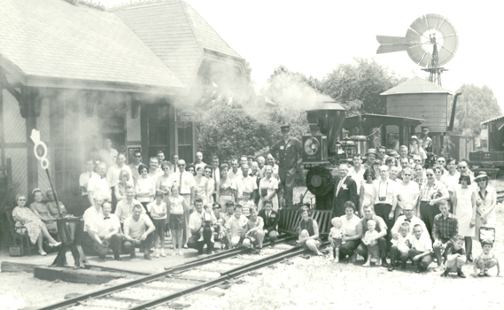 Ward Kimball's Grizzly Flats Railroad was a stop for the 1966 Convention