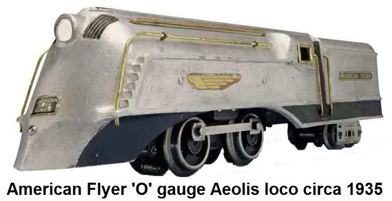 American Flyer #9915 Aeolis streamlined 'O' gauge motive unit from the 1935 #1324 RCT Century Set