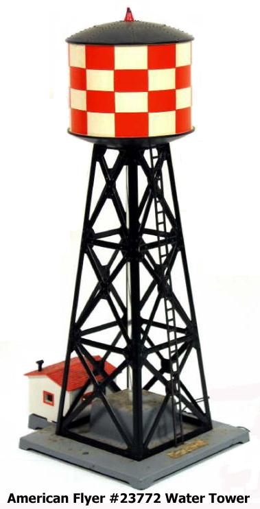 3/16 Scale (S-Scale) Vintage American Flyer Water Tower #23772
