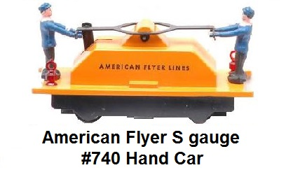 American Flyer 'S' gauge #740 hand car