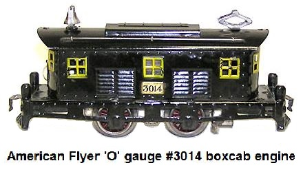 American Flyer No. 3014 Mid-Sized Boxcab Engine from 1925-27