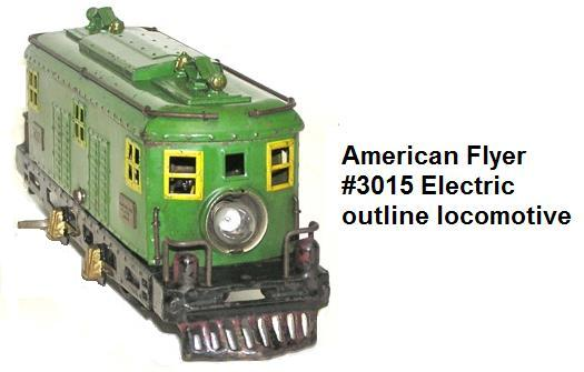 American Flyer 'O' gauge #3015 electric outline locomotive that headed up the 1927 Jeffersonian set
