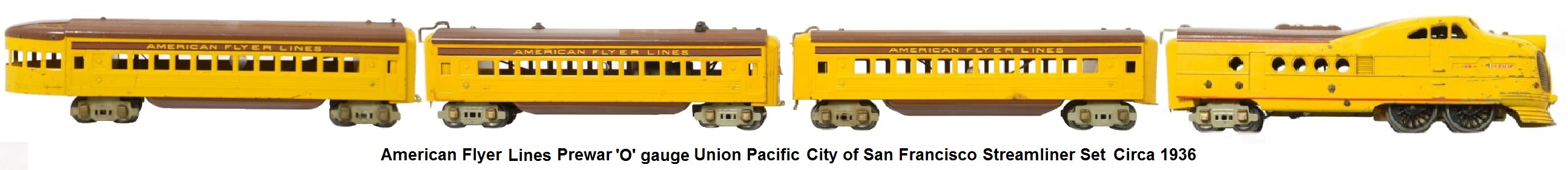 American Flyer 'O' gauge Union Pacific streamliner set