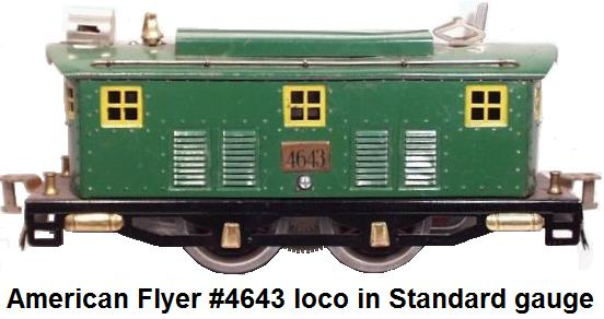 American Flyer #4643 electric outline locomotive in Standard gauge