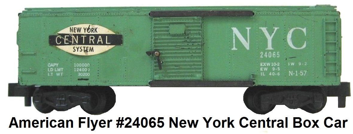 American Flyer S gauge #24065 New York Central Box Car