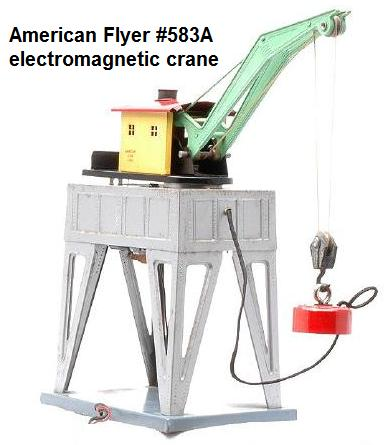 American Flyer #583A electromagnetic crane accessory