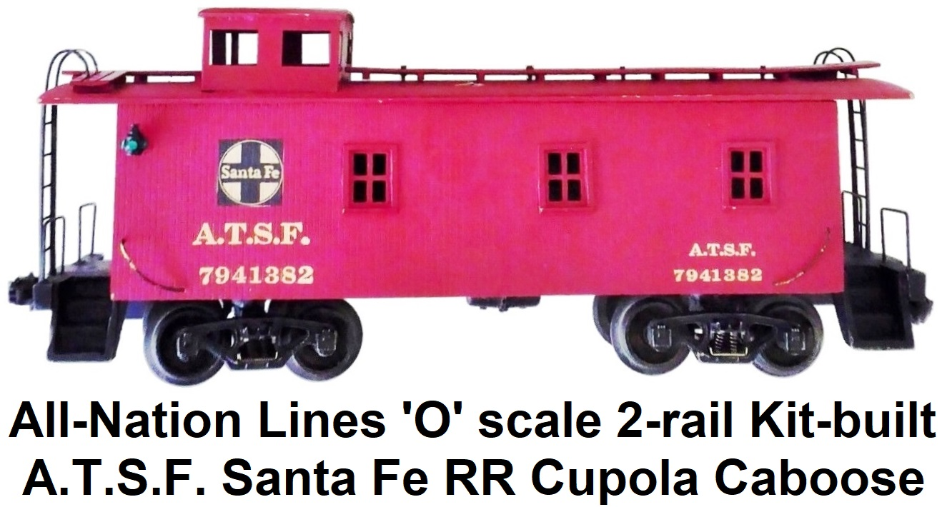 All-Nation 'O' scale 2-rail 40' Steel Box Car Kit-built into Chicago & Northwestern PS-1