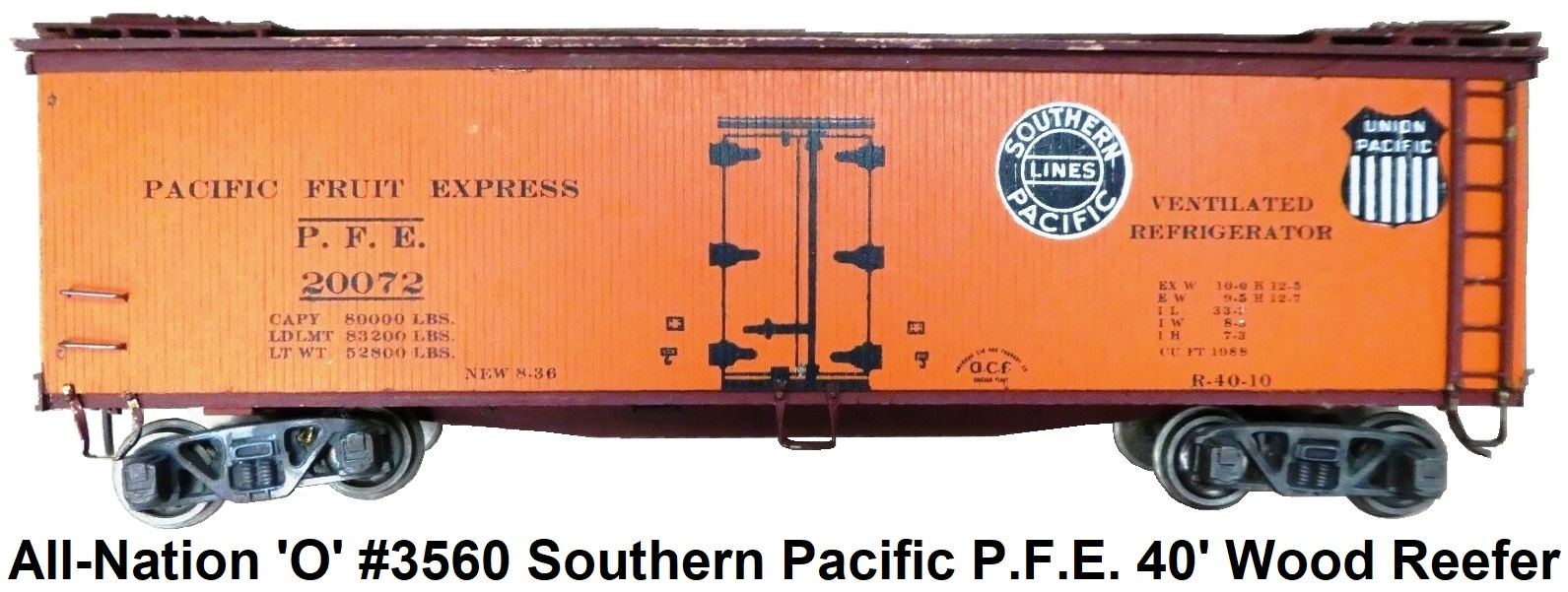 All-Nation 'O' scale 2-rail Kit-built New York Central MDT Tin Plate Reefer #9000