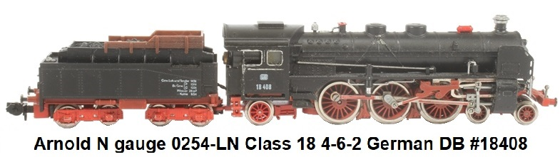 Arnold N gauge 0254-LN Class 18 4-6-2 18408 of the German DB