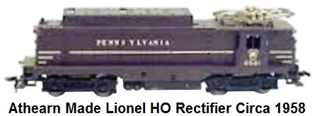 Athearn made Lionel HO gauge Rectifier in PRR livery
