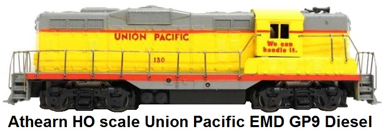 Athearn HO scale Union Pacific RR EMD GP9 Diesel Loco