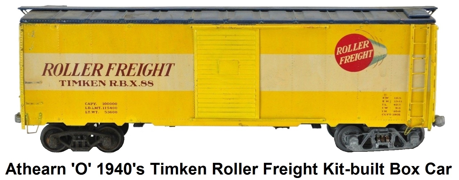 Athearn 'O' scale Timken Roller Freight 1940's Kit-built Wood With Metal Skin Box Car