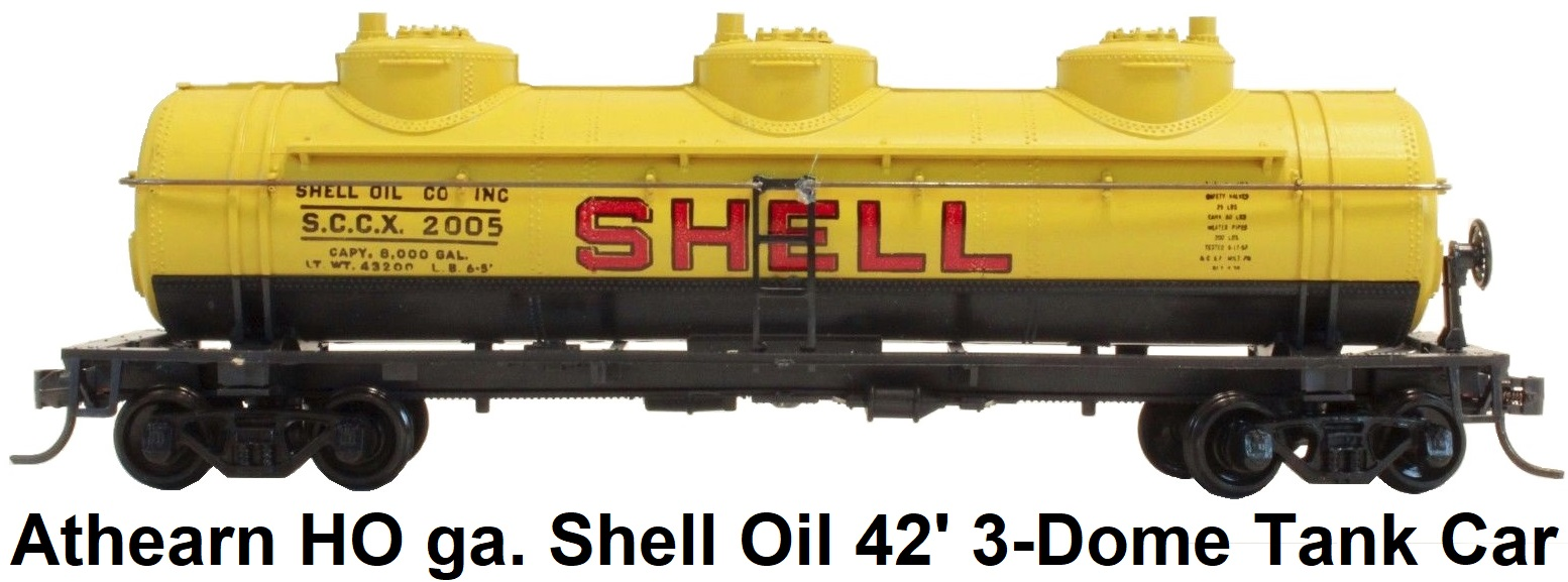Athearn HO gauge Shell Oil 42' Triple Dome Tank Car SCCX 2005 1500 RTR