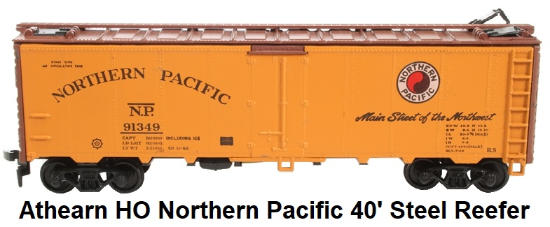 Athearn HO gauge 5028ATH-LN 40' Northern Pacific Steel Reefer
