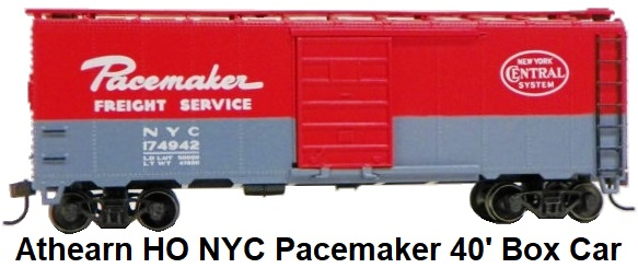 Athearn HO gauge 2003 R-T-R NYC Pacemaker Freight Service 40' AAR Box Car
