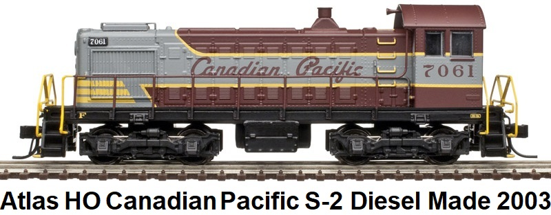 Atlas Silver Series HO gauge #10001467 Canadian Pacific S-2 Diesel Switcher circa 2003