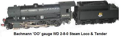 Bachmann 'OO' gauge WD European outline 2-8-0 steam loco