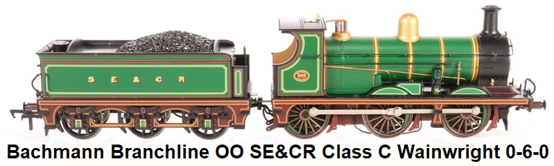 Bachmann Branchline OO 31-460-HX Class C Wainwright 0-6-0 592 in SE&CR lined green