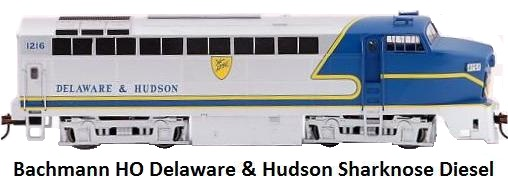 Bachmann RF-16 Delaware & Hudson DCC equipped Shark nose A unit 61806 in HO gauge
