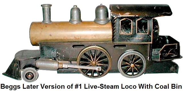Beggs 1 gauge American Outline #1 Live-Steam 2-4-0 Loco