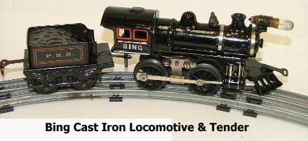 A Bing cast iron Loco & tender circa 1914