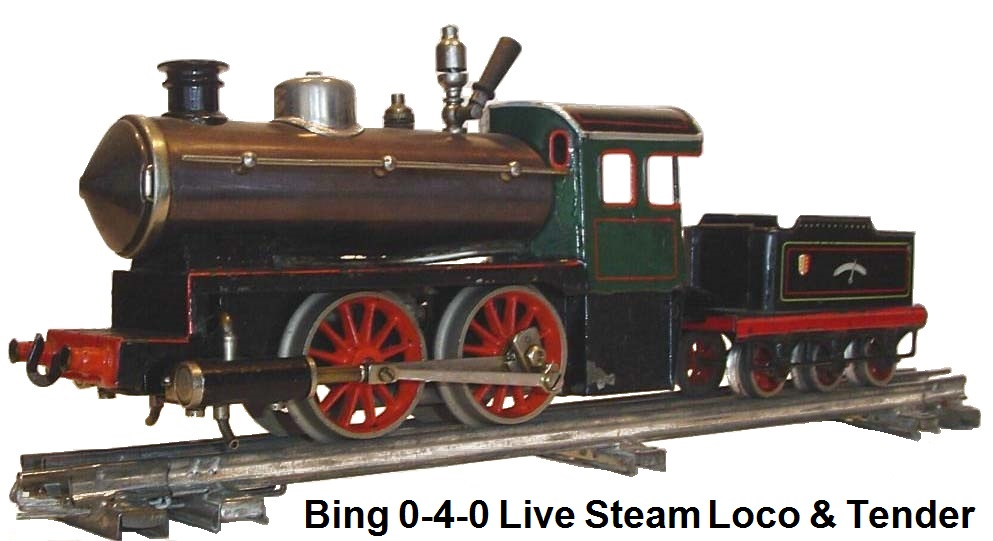 A Bing Steam Loco & tender