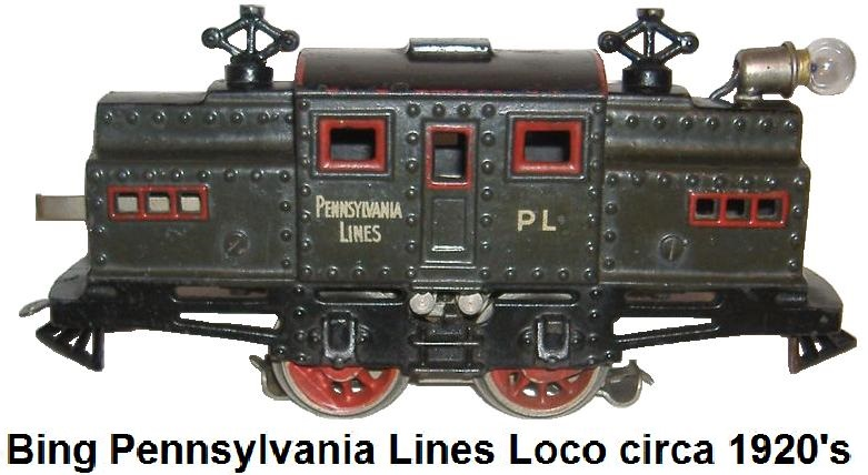 Bing 1920's Pennsylvania Electric Outline Locomotive
