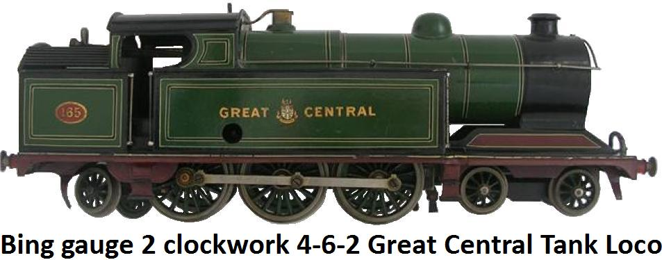 Bing Gauge 2 Clockwork Great Central 4-6-2 Tank Locomotive #165