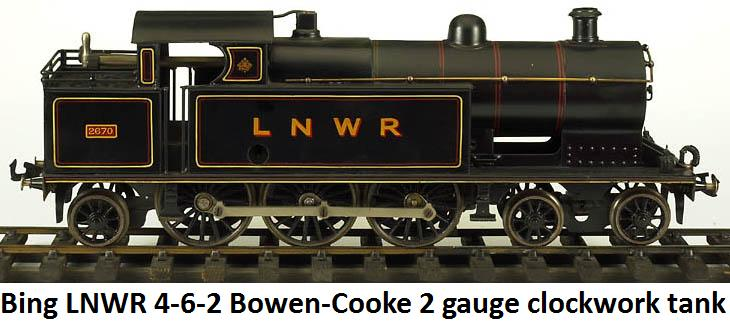 Bing #2670 LNWR 4-6-2 Bowen-Cooke clockwork tank engine in gauge 2