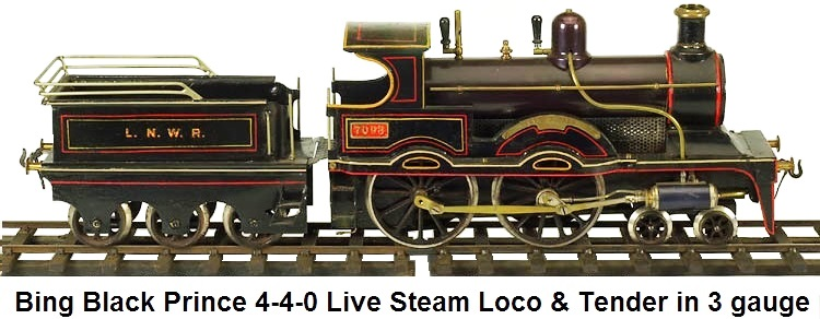 Bing Black Prince Steam in 3 gauge