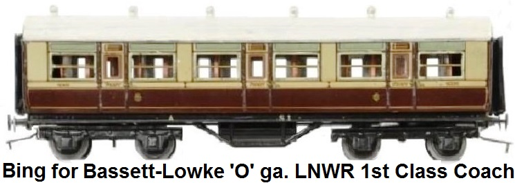 Bing for Bassett-Lowke London and Northwest Railway passenger coach