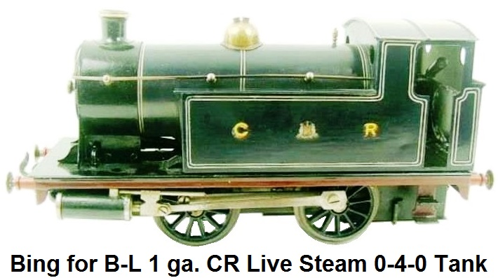 Bing for Bassett-Lowke 1 gauge Caledonian Railway live steam 0-4-0 #518 Tank Loco