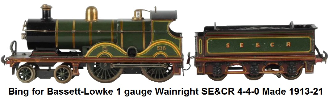 Bing for Bassett-Lowke 1 gauge Wainright SE&CR made 1913-1921 Originally Clockwork