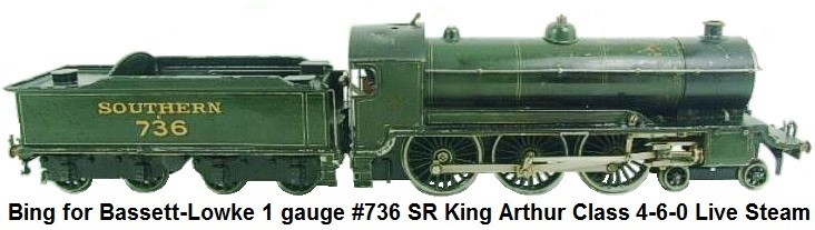 Bbing for Bassett-Lowke 1 gauge SR King Arthur Class 2-6-0 Live Steam #736
