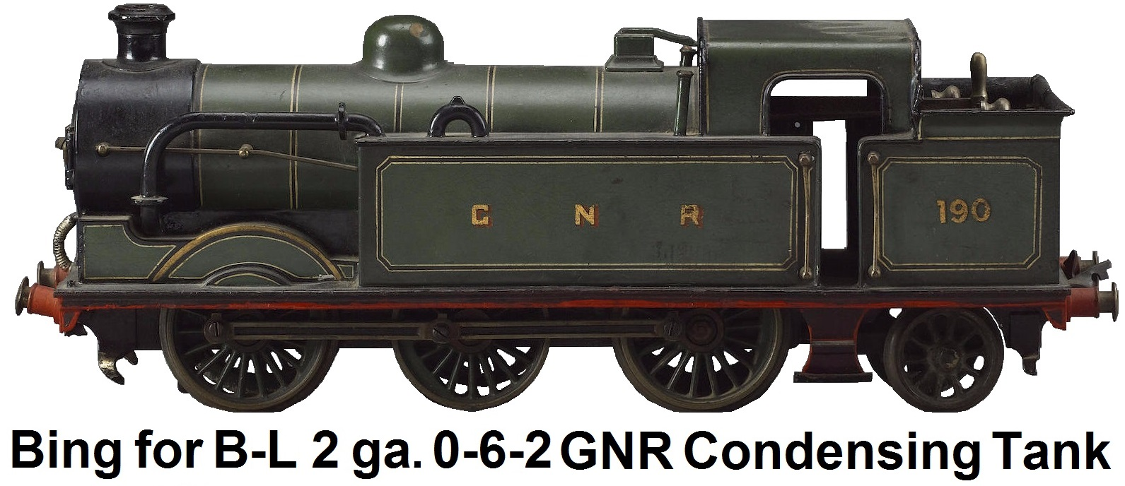 Bing for Bassett-Lowke Gauge II 0-6-2 GNR Condensing Tank engine