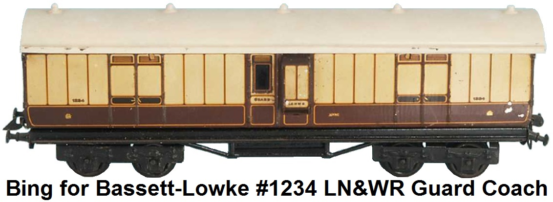 Bing for Bassett Lowke London and Northwest Railway Baggage Car