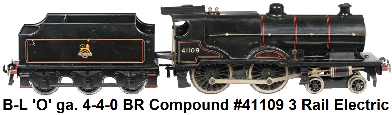 Bassett-Lowke 'O' Gauge 4-4-0 BR Compound Locomotive #41109 3-rail electric