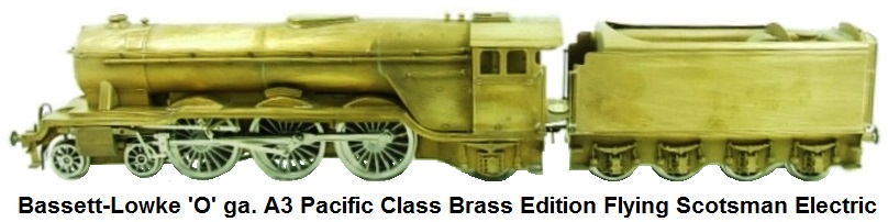 Bassett-Lowke 'O' gauge A3 Pacific Class Brass Edition Flying Scotsman Electric