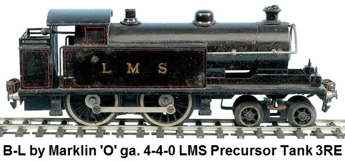 Bassett-Lowke by Marklin 'O' gauge Short Precursor 4-4-0 Tank Loco LMS black, 3-rail Electric