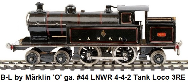 Bassett-Lowke by Marklin 'O' gauge 4-4-2 LNWR Tank Loco No.44 3-rail Electric