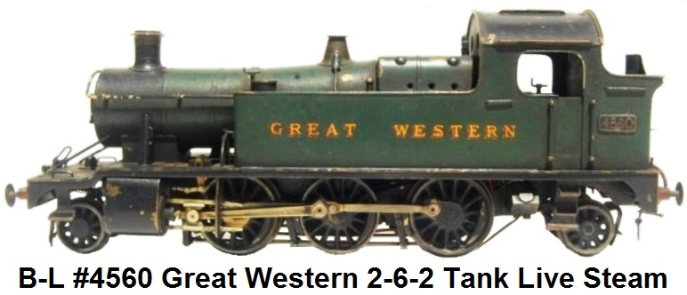 Bassett-Lowke #4560 Great Western 2-6-2 Tank live steam