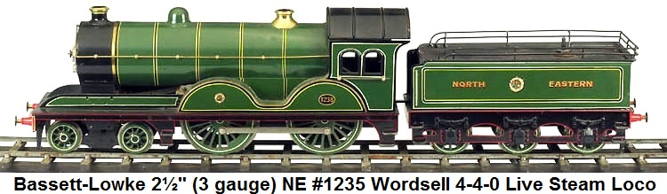 Bassett-Lowke NE Wordsell 4-4-0 Steam loco & tender in 2½ gauge