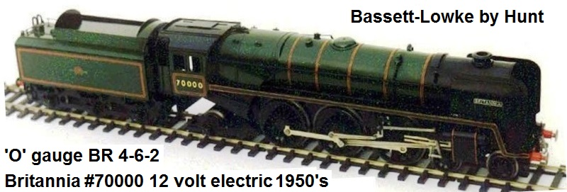 Bassett-Lowke British Railways 'O' gauge 4-6-2 Britannia #7000 12 volt DC electric circa 1950's