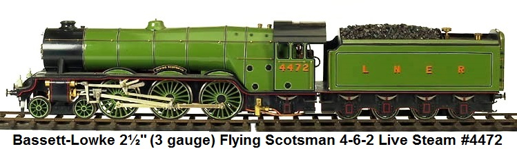 Bassett-Lowke Flying Scotsman 4-6-0 Steam Loco & tender in 2½ gauge