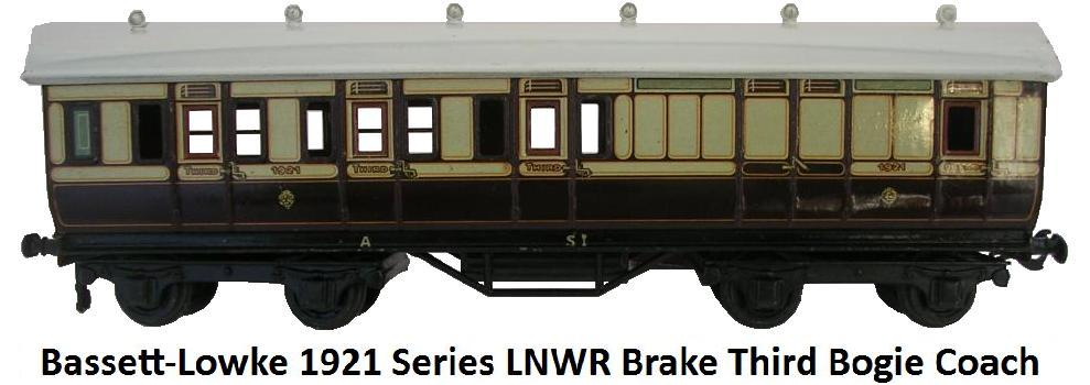 Bassett-Lowke 1921 Series London and Northwest Railway Brake Third class Bogie Coach