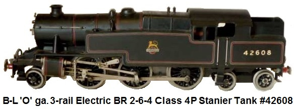 Bassett-Lowke 'O' gauge 3-rail electric British Railways 2-6-4 Stanier Tank