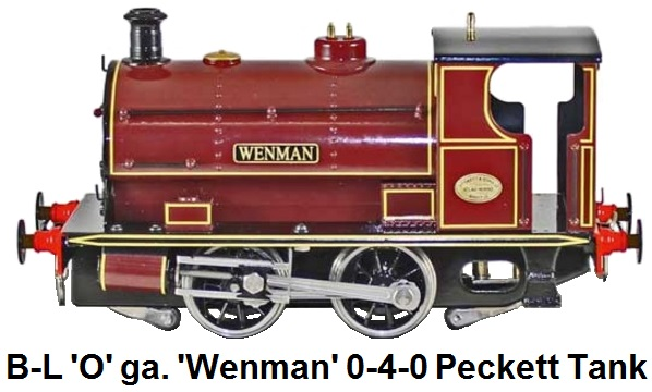 Bassett-Lowke by Corgi 'O' gauge 0-4-0 Peckett Industrial Saddle Tank Locomotive 'Wenman' for 2 or 3 rail electric