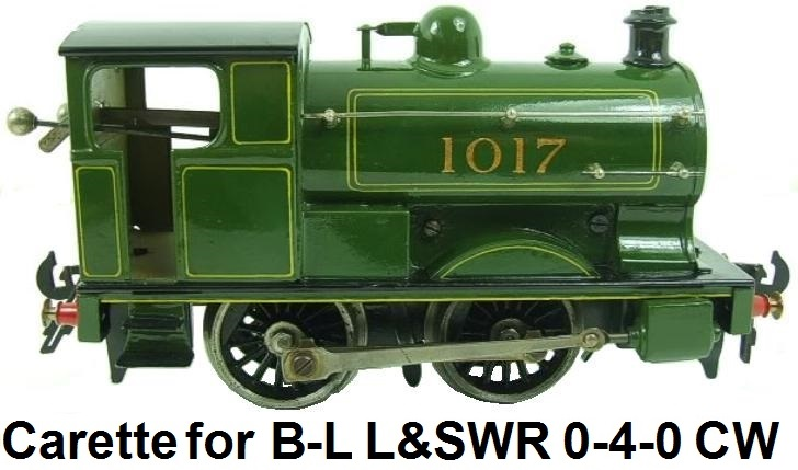 Carette for Bassett-Lowke #1017 clockwork 'O' gauge L&SWR Class S14 0-4-0 Tank Loco circa 1921-29