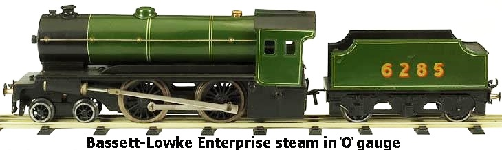 Bassett-Lowke Enterprise steam in 'O' gauge