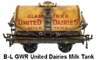 Bassett-Lowke United Dairies milk tank wagon
